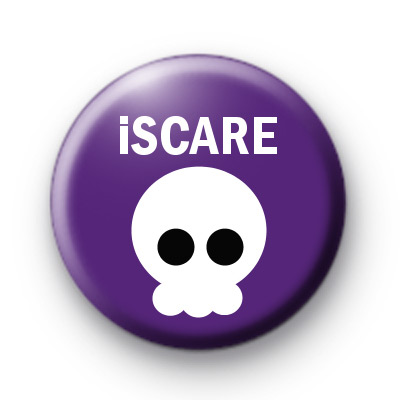 Purple i Scare Skull Badge