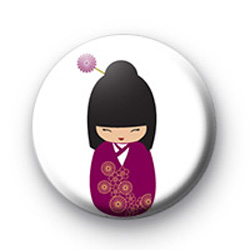 Purple Japanese Doll Badges