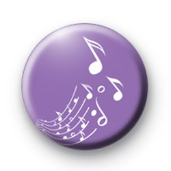 Purple Notes Button Badge