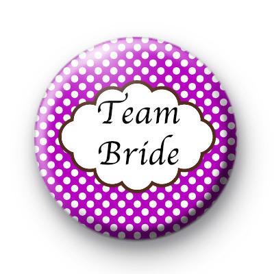 Purple Polka Dot Team Bride Badges