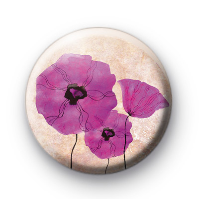 Three Purple Poppies Badges