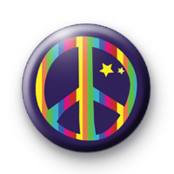 Purple Rainbow Peace Badge