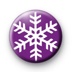 Purple Snowflake Badge