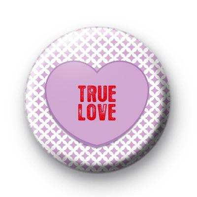 Purple True Love Heart Badge