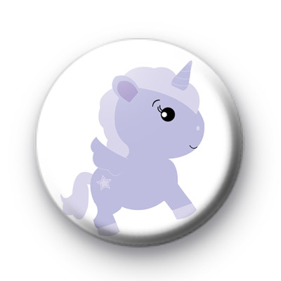 Purple Unicorn Button Badge