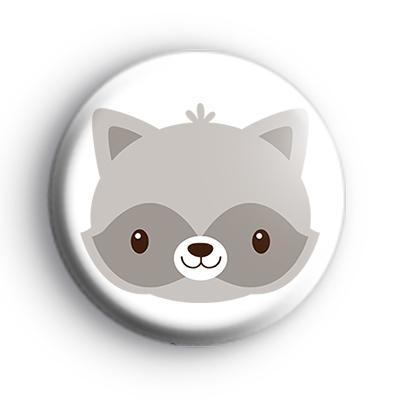 Adorable Raccoon Animal Badge