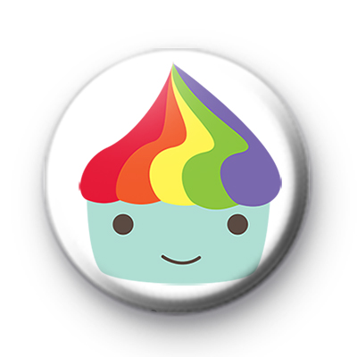 Rainbow Cupcake pin badge