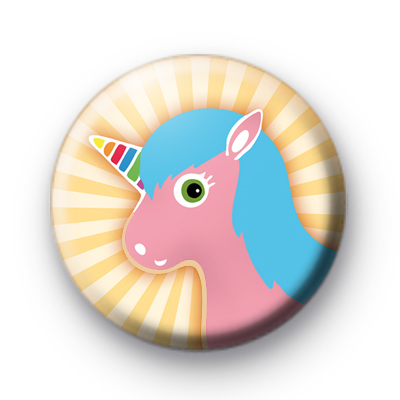 Rainbow Unicorn Button Badge