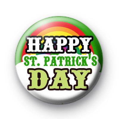 Rainbow Happy St Patrick's Day Bagdes