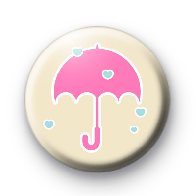 Raining Love Hearts Badge