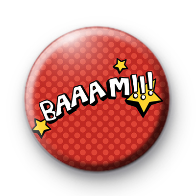 Red Comic Book Baaam Badge