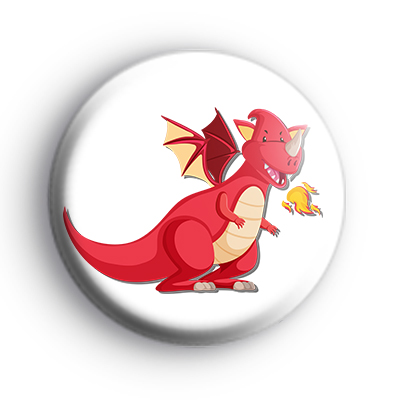 Fire Breathing Red Dragon Badge