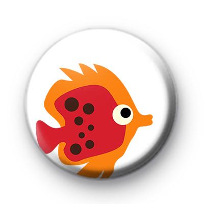 Red and Orange Fish Badge