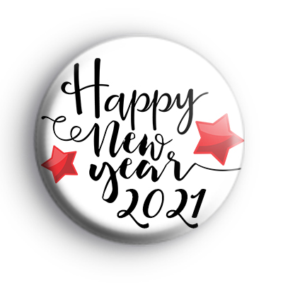 Happy New Year 2021 Red Stars Badge