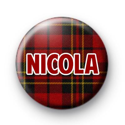 Red Tartan Name Badge