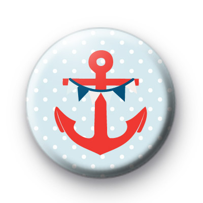 Nautical Anchor and Bunting Badge