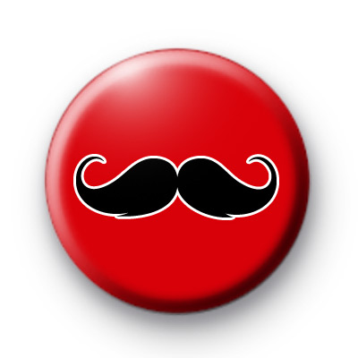 Red and Black Moustache Badges Movember