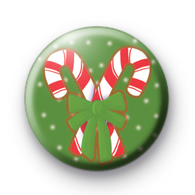Red and Green Candy Cane Badge