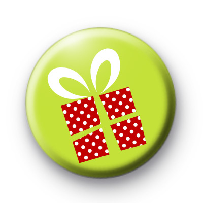 Red Christmas Presents Badge