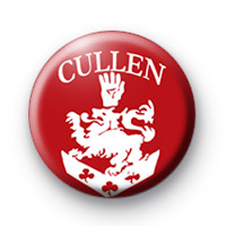 Red Cullen Family Crest Badge