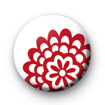Red Cut Out Flower Badge