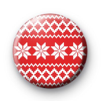 Red Festive Jumper badge