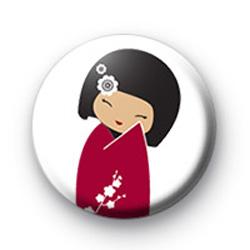 Red Geisha Girl Badge