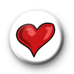 Bright Red Heart 2 Badge