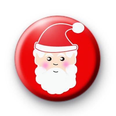 Jolly Santa Face Badges