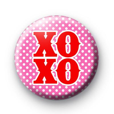 Red Kisses XO XO Badges