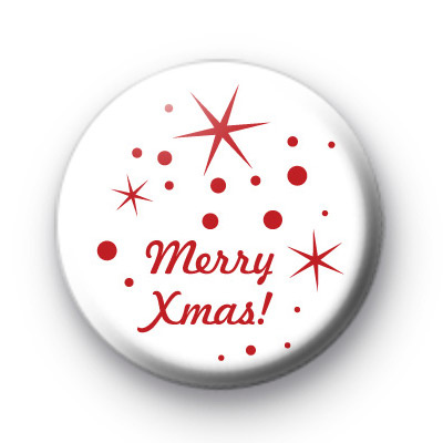 Red Merry Xmas Badges