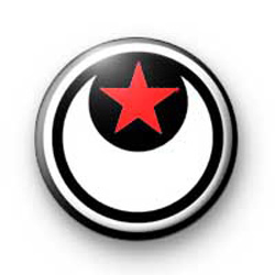 Moon and Star Red badges