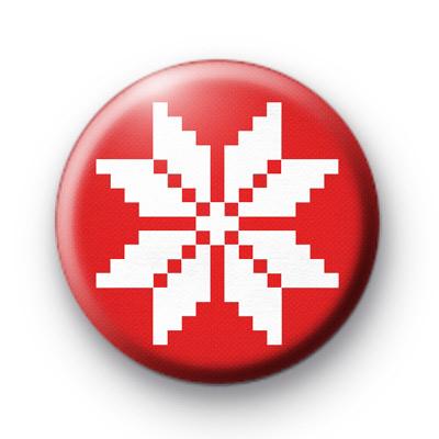 Swedish Snowflake Badge