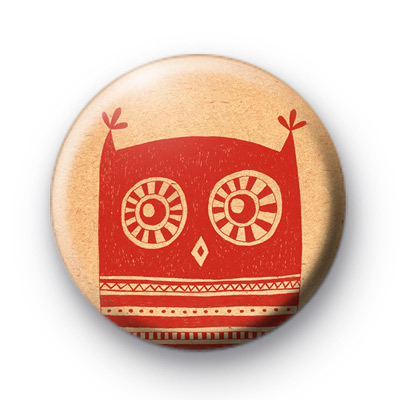 Red Owl Button Badges