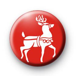 Red Reindeer Badge