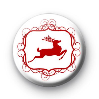 Reindeer Prancer Button Badges