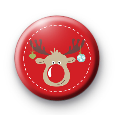 Xmas Decorations and Reindeer badge