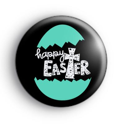 Blue Religious Easter Badge