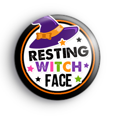 Resting Witch Face Badge