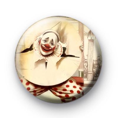 Cute Retro Circus Clown Button Badges