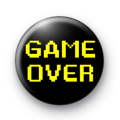 Retro Game Over badge