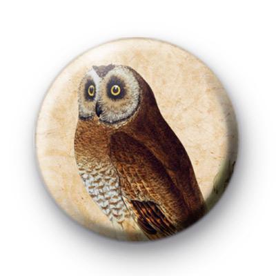 Retro Owl 3 Button Badge
