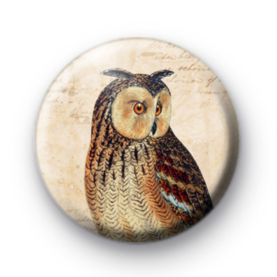Retro Owl 4 Pin Badge