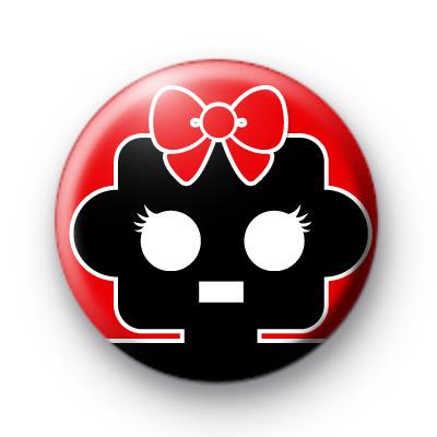 Mrs Robot Cute Badge