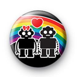 Rainbow Robot Love Badges