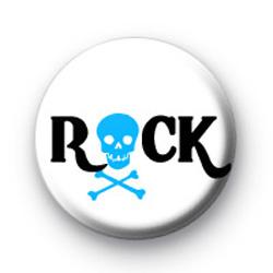 Rock Blue Skull Badges