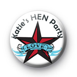 Rock Chick Hen Party badges