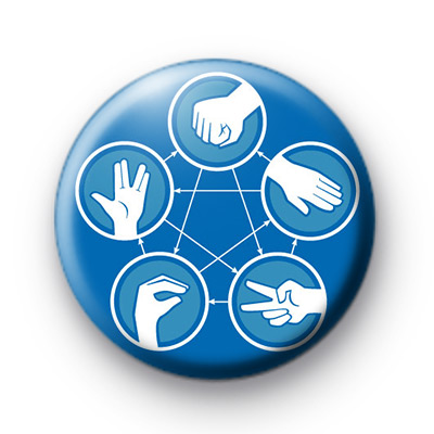 Rock-paper-scissors-lizard-Spock the Big Bang theory Badge