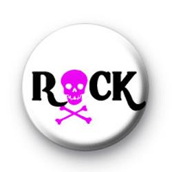Rock Pink Skull Badges
