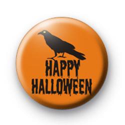 Raven Happy Halloween Badge